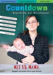 mit 15 mama - Countdown - Das Magazin zur Berufswahl