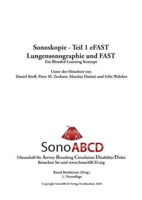 Sonoskopie eFAST: Lungensonographie und FAST (Online Auflage).