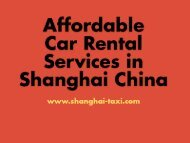 Shanghai Car Rental Service with Driver