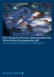 PwC Deutsche Revision Aktiengesellschaft ...