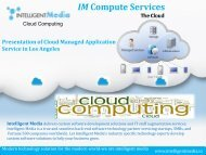 Presentation of Cloud Managed Application Service in Los Angeles