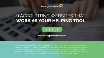 There are 9 Accounting Websites that Work as Your Helping Tool