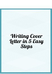 Writing Cover Letter in 5 Easy Steps