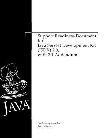 (JSDK) 2.0, with 2.1 Addendum