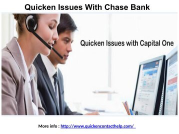 Quicken Issues With Chase Bank