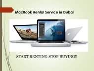 Call us @ 0557503724 for MacBook Rental Service in Dubai