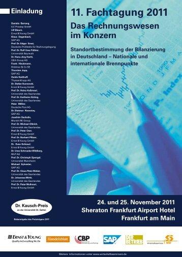 Einladung 11. Fachtagung 2011 Das Rechnungswesen im Konzern ...