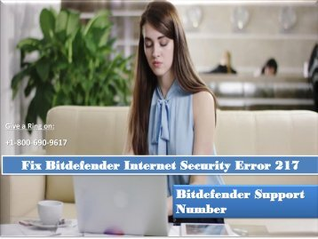 Fix Bitdefender Internet Security Error 217
