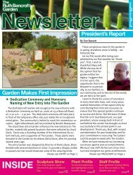 Garden Makes First Impression President's Report - The Ruth ...