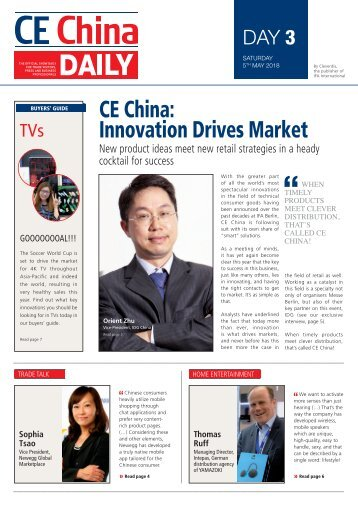 CE China Daily 2018 - Day 3 Edition