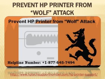 Prevent HP Printer from Wolf Attack
