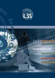 ANNUAL REPORT 2006 - Forschungszentrum L3S