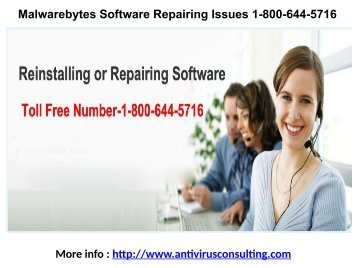 Malwarebytes Software Repairing Issues 1-800-644-5716
