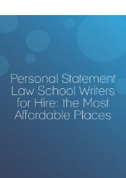 Personal Statement Law School Writers for Hire: The Most Affordable Places