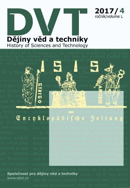 Dějiny věd a techniky 2017, 4