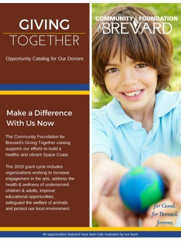 2018 Giving Together Catalog