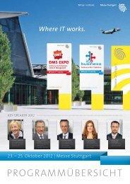 Where IT works. - Messe Stuttgart