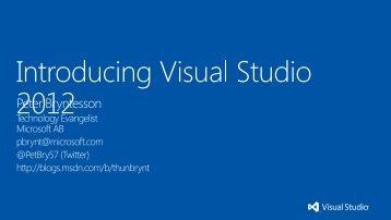 Visual Studio 2012 - Microsoft