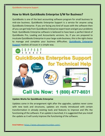 How to Work QuickBooks Enterprise S/W for Business?