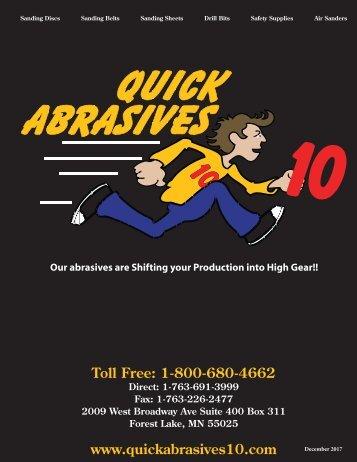 Quick Abrasives 10 Catalog Revised Dec 2017