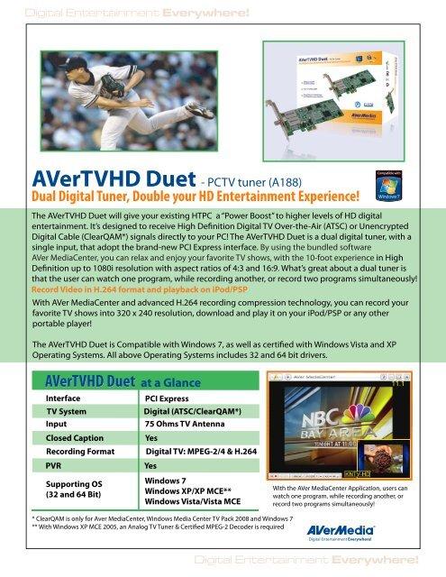 AVERTVHD DUET DRIVERS FOR WINDOWS XP