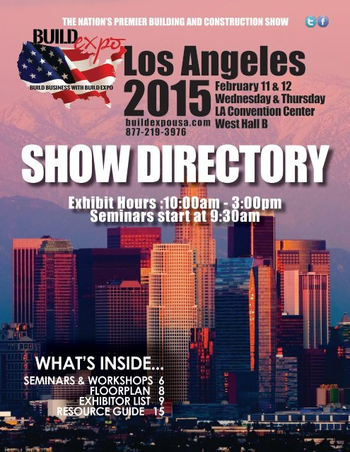 Los Angeles 2015 Build Expo Show Directory