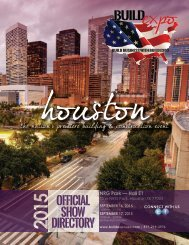 Houston 2015 Build Expo Show Directory