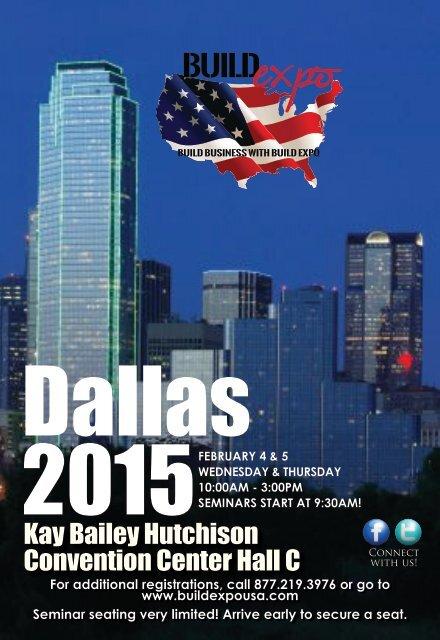 Dallas 2015 Build Expo Show Preview Guide