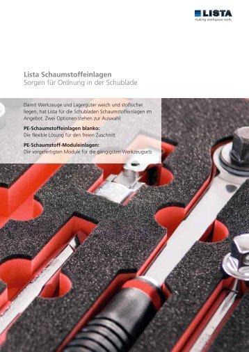 lis 01039-03 Factsheet Schaumstoffeinlagen_dt.indd - Lista AG