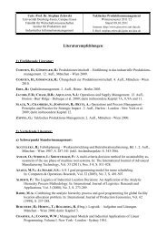 Vertiefende Literatur - Institut für Produktion und Industrielles ...
