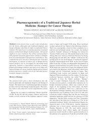 Pharmacogenomics of a Traditional Japanese Herbal Medicine ...