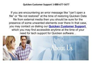 Quicken Customer Support 1-888-677-5677