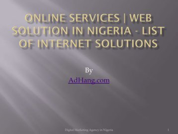 Top Digital Marketing Agency in Lagos