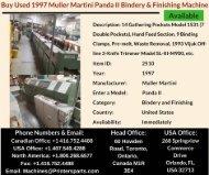 Buy Used 1997 Muller Martini Panda II Bindery and Finishing Machine