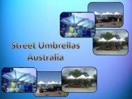 Retractable Umbrella at Street Umbrellas Australia