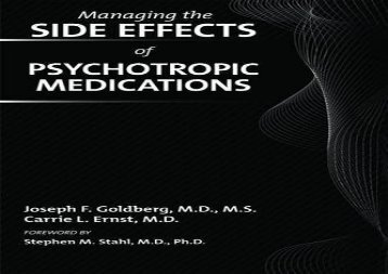PDF FREE DOWNLOAD  Managing Side Effects of Psychotropic Medications READ ONLINE