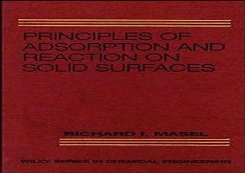 PDF FREE DOWNLOAD  Adsorption (Wiley Series in Chemical Engineering) DOWNLOAD ONLINE