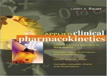PDF FREE DOWNLOAD  Applied Clinical Pharmacokinetics BOOK ONLINE