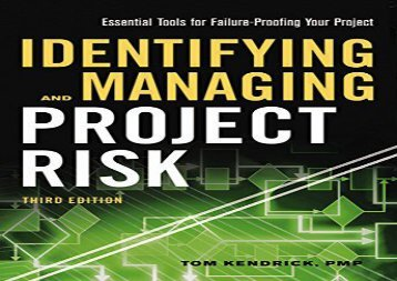 PDF FREE DOWNLOAD  Identifying and Managing Project Risk: Essential Tools for Failure- Proofing Your Project READ ONLINE