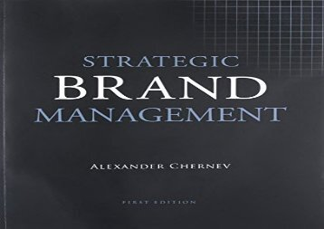 PDF DOWNLOAD Strategic Brand Management BOOK ONLINE