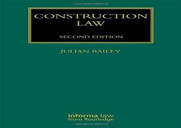 PDF FREE DOWNLOAD  Construction Law (Construction Practice Series) Volume 1-3 READ ONLINE