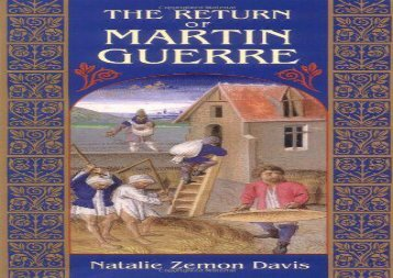 PDF DOWNLOAD Return of Martin Guerre DOWNLOAD ONLINE