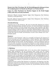 Warenkorb- und Bondatenanalyse im Computer Integrated Trading