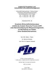 AHP - Institut für Produktion und Industrielles ...