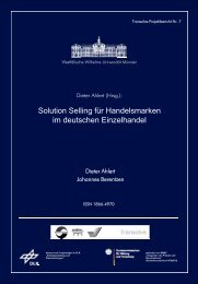 Solution Selling für Handelsmarken im deutschen Einzelhandel