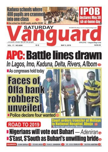 05052018 - Faces of Offa bank robbery suspects unveiled •Police declare them wanted