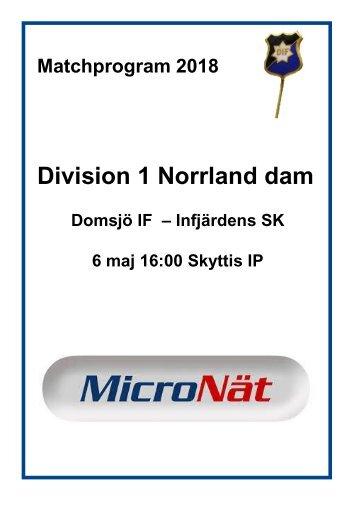 Matchprogram_2018_DomsjöIF-InfjärdensSK
