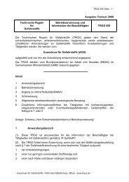 TRGS 555 - Arbeits- und Gesundheitsschutz in Schulen