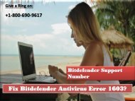 Fix Bitdefender Antivirus Error 1603