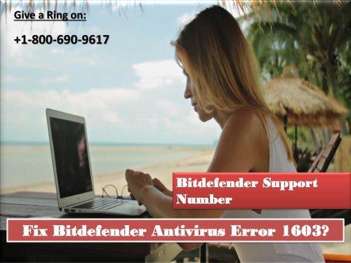 Fix Bitdefender Antivirus Error 1603